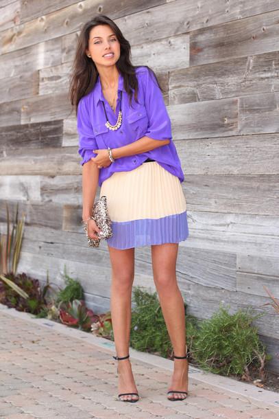 viva luxury skirt jewels blouse shoes bag
