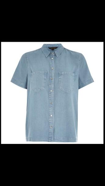 shirt denim shirt button up boxed