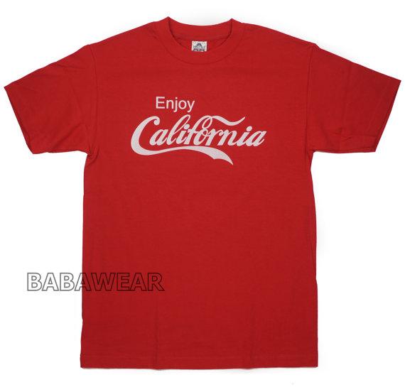 Enjoy California Coca Cola TShirt Cali Red Coke by BABA226 on Etsy