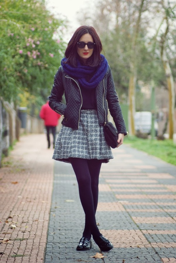 my name is maria skirt sweater jacket shoes scarf