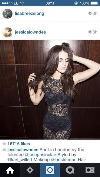 dress jessica lowndes lace dress