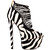 London Trash CERES Platform Pump in Zebra Pony – FLYJANE