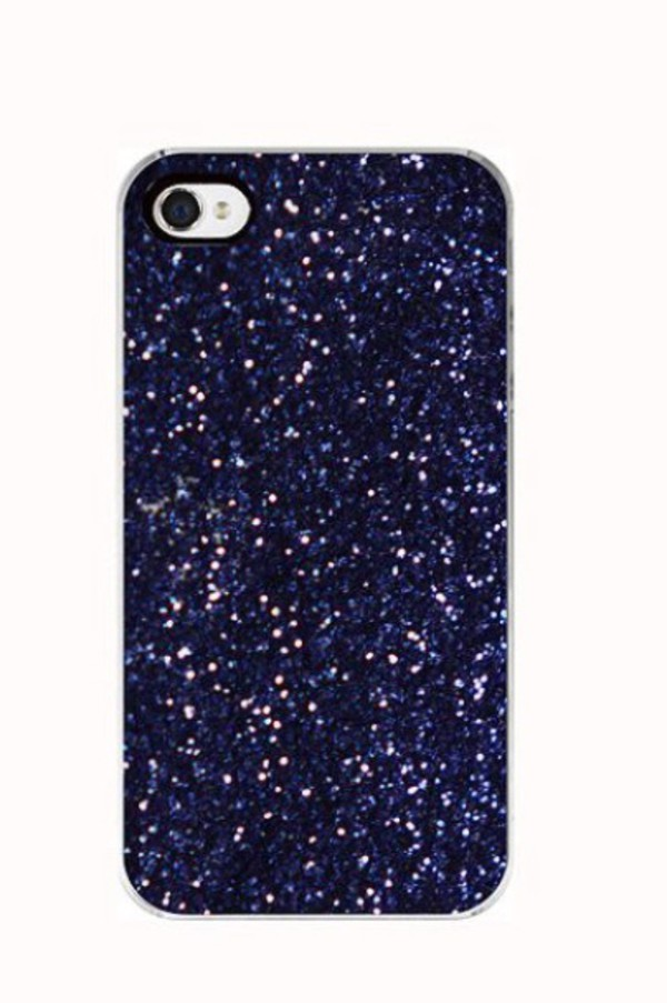 blue iphone 5 case phone cover blue midnight blue glitter sparkle navy 13681