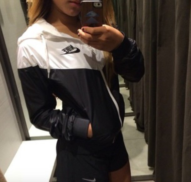 jacket nike black and white dope dope nike jacket