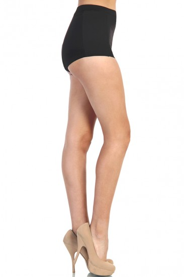 LoveMelrose.com From Harry & Molly   High Waist Fitted Shorts - Black