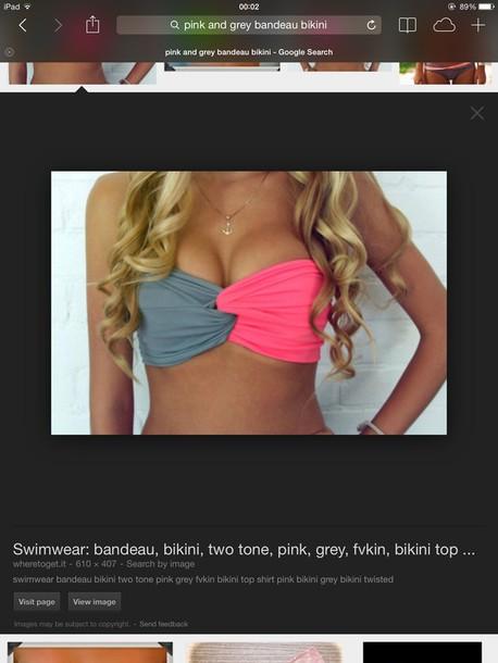 swimwear bikini bikini top bandeau bikini