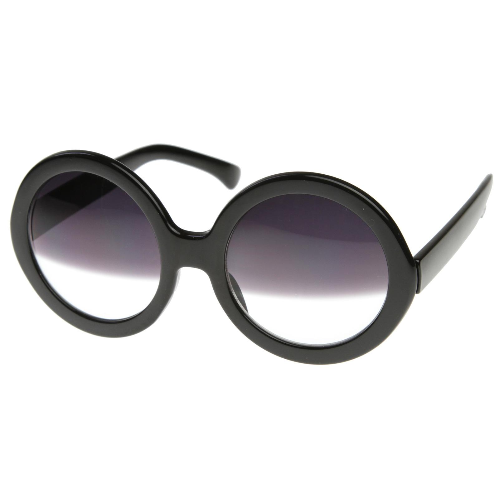 Hollywood Womens Nicole Celebrity Round Circle Half Tint Lens Sunglasses 8511   eBay
