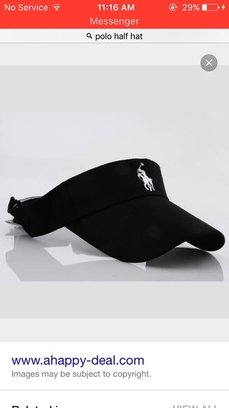 hat black polo visor visor ralph lauren polo