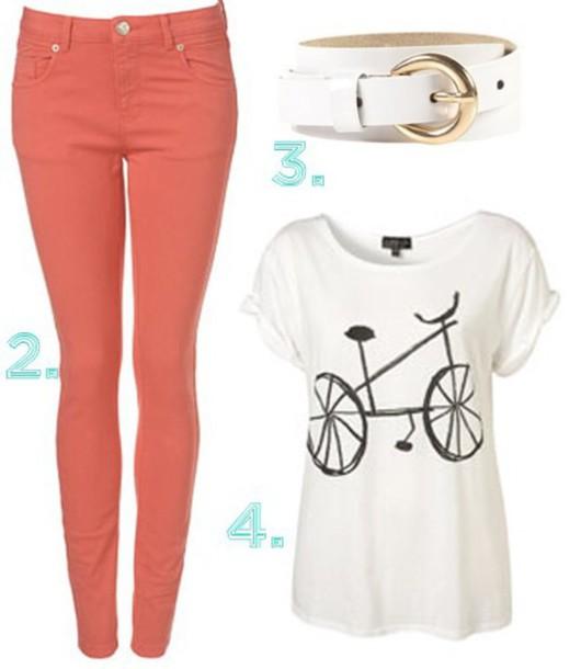 shirt white shirt bike bike shirt
