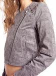 Lederjacke Dr Denim Juno Juno Suede Jacket Grey - Lederjacke damen Dr Denim