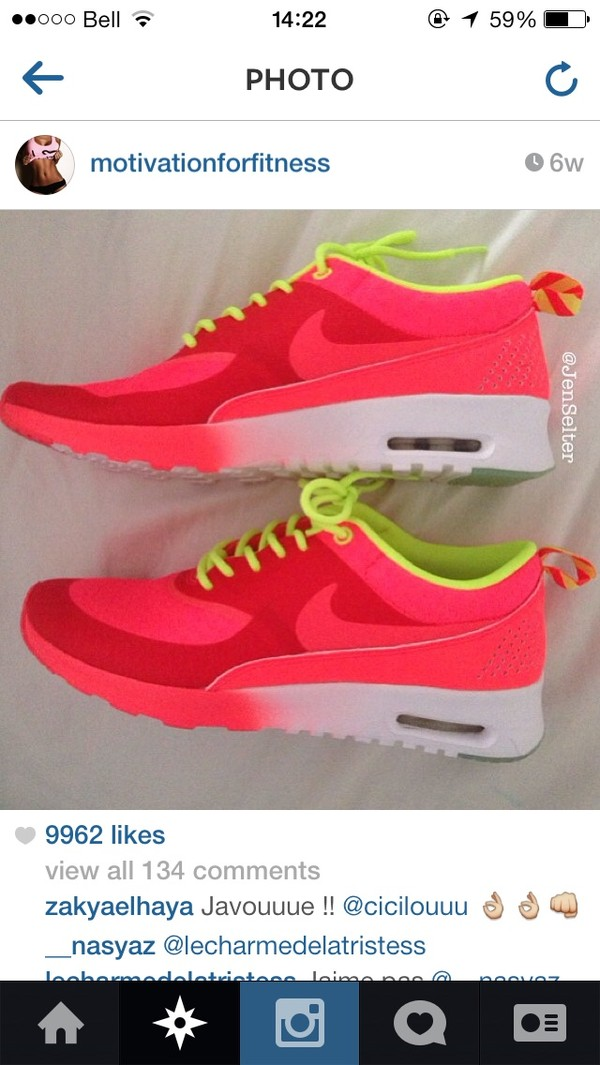 shoes nike pro nike pro sneakers pink neon yellow white fitness workout