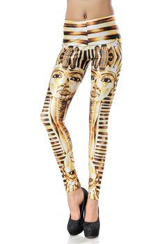 2014 Hot Sale Drop Shipping Golden Egyptian Pharaoh King Tut 3d Digital Custom Printed Women Leggings Pencil Skinny Pants Dk139-in Leggings from Apparel & Accessories on Aliexpress.com