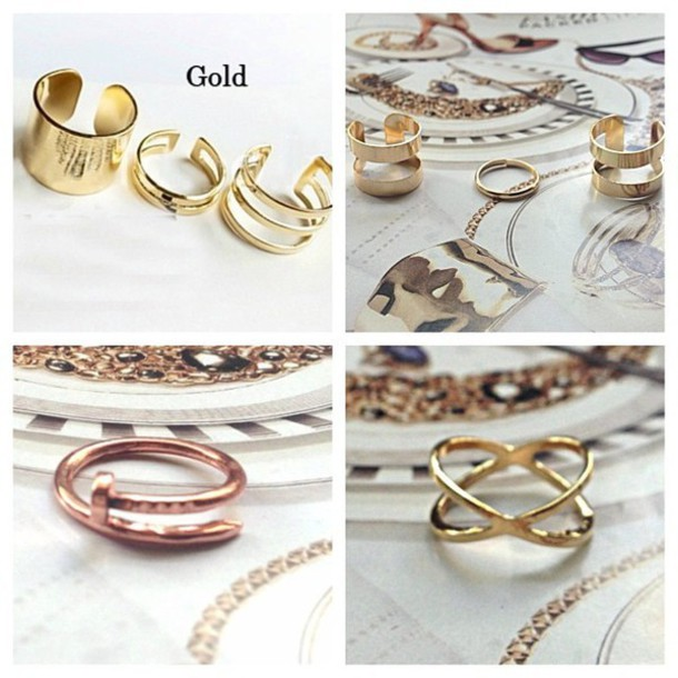 jewels ring cuff knuckle ring rings set ring mid ring accessories style trendy rings and tings