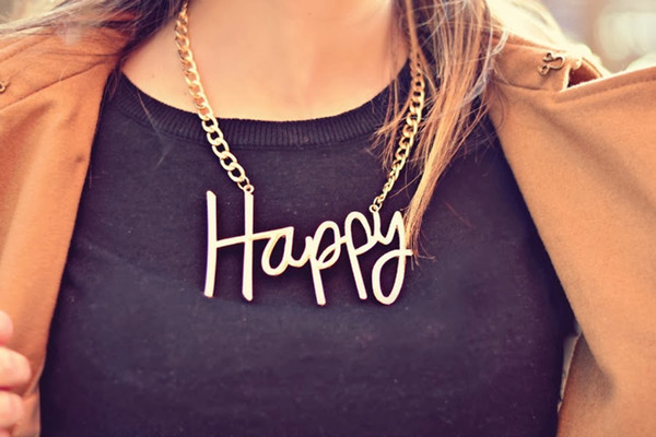 jewels statement necklace necklace happy gold