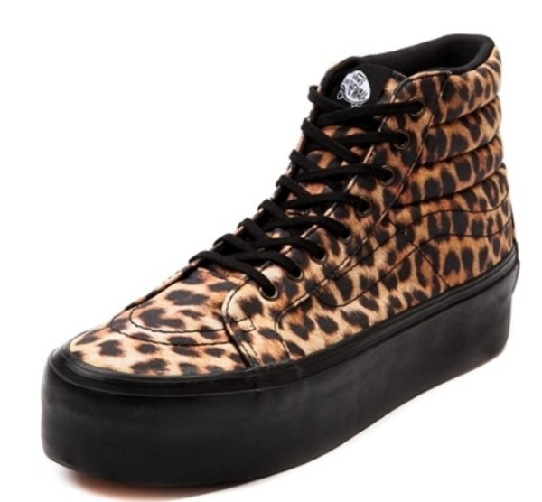 shoes vans skateboard off the wall leopard animal pront high