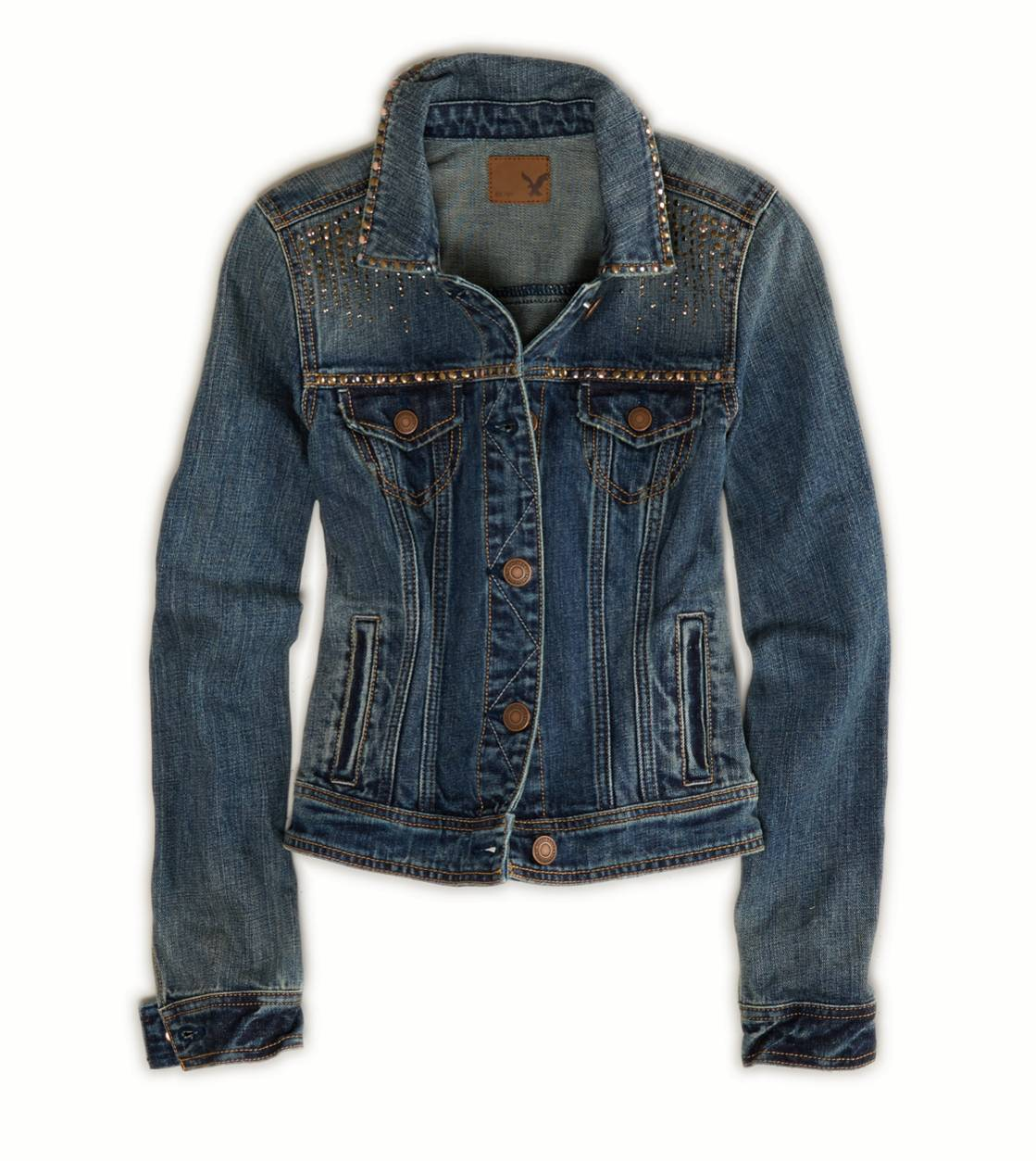 AE Studded Denim Jacket | American Eagle Outfitters