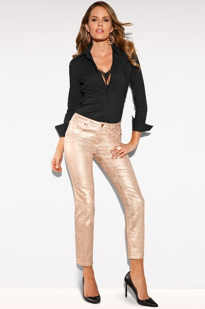 Blush foil print jean - Boston Proper