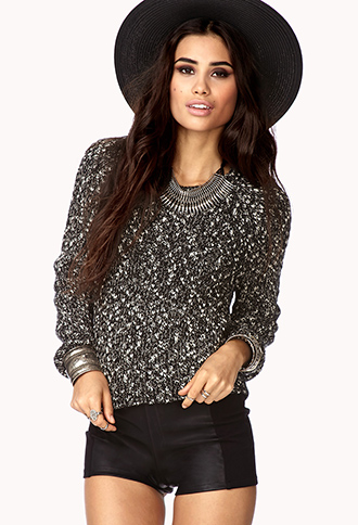 Marled Cropped Sweater | FOREVER21 - 2077769328