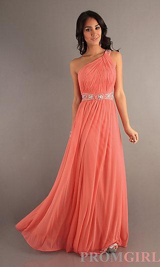 2013 Temptation Prom Dress, One Shoulder Evening Gowns- PromGirl