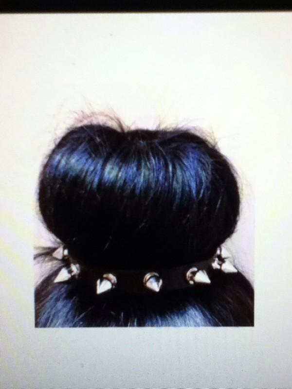 jewels spiked headband spikes cute kawaii black silver