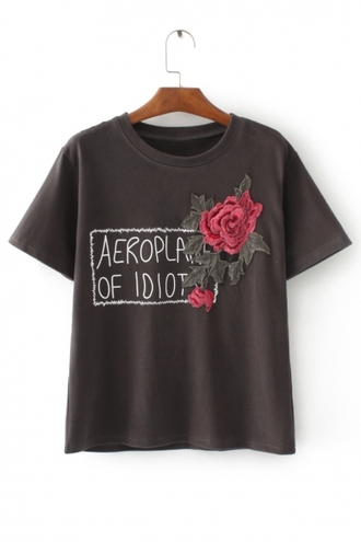 shirt roses fashion floral trendy girly cool brown rose flowers quote on it beautifulhalo