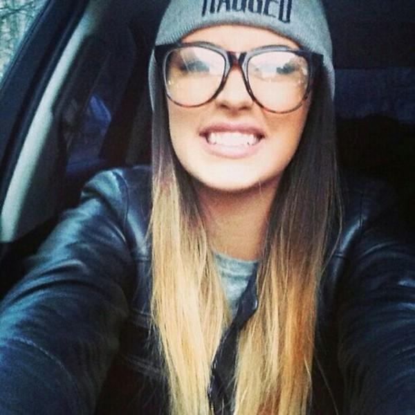 sunglasses antonia dip dyed dip dyed brunette blonde hair beanie beanie beautiful