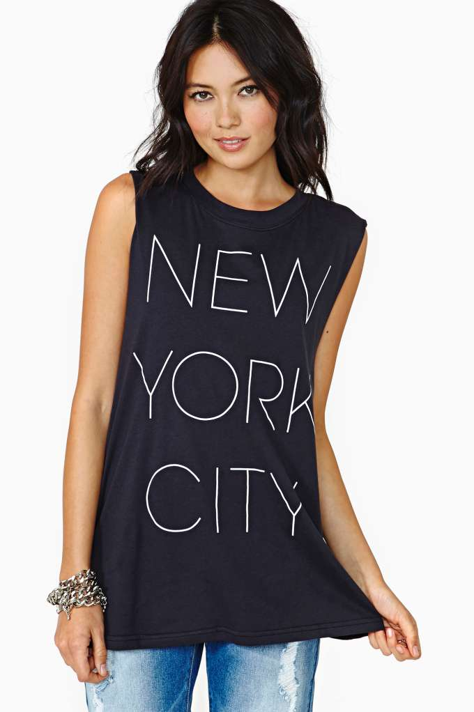 New York City Girl Muscle Tee   Shop Tops at Nasty Gal