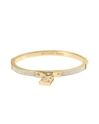 Michael Kors Pave Hinge Padlock Bracelet, Golden - Michael Kors
