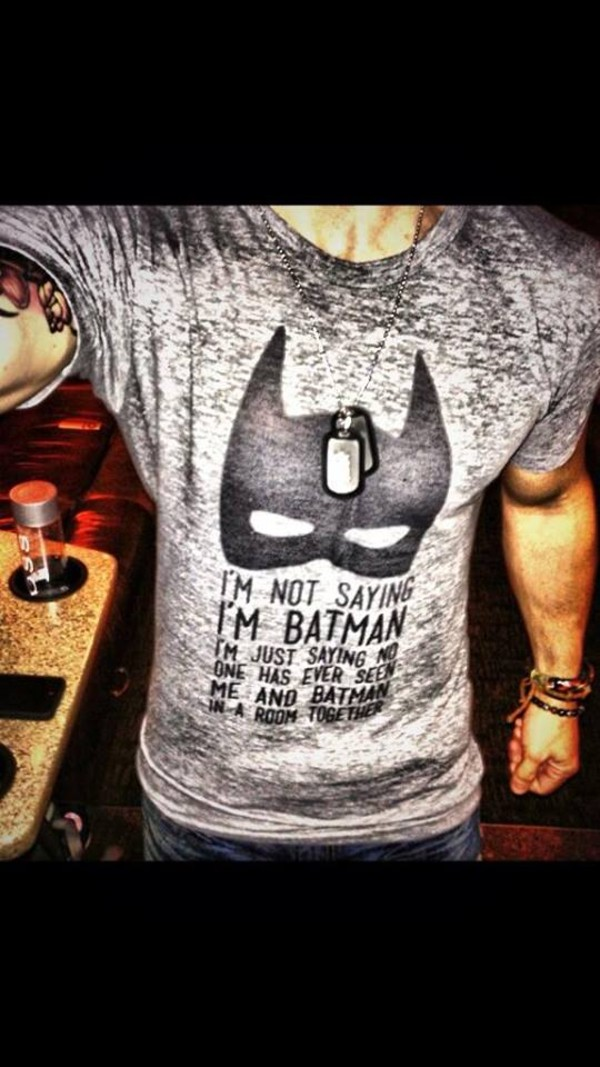shirt batman grey