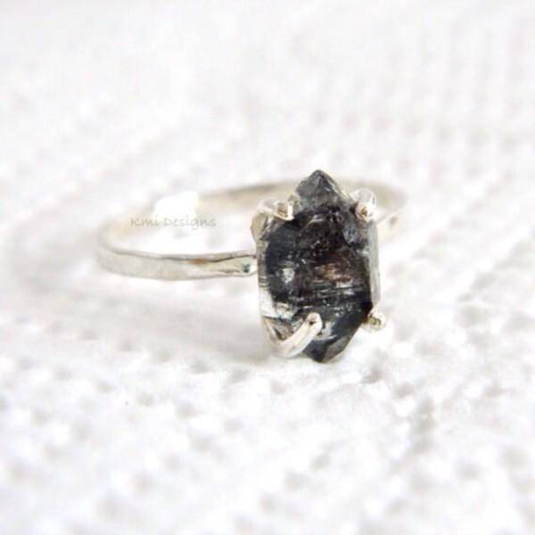 jewels diamonds jewelry rings handmade ring silver ring engagement ring hipster wedding minimalist jewelry