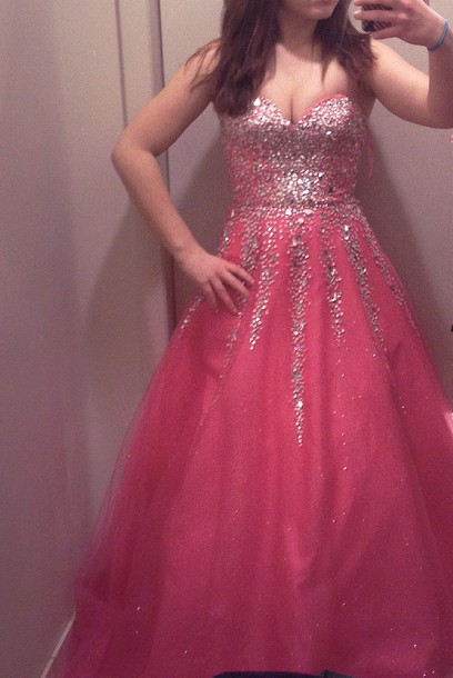dress sparkle sparkle puffy poofy prom dress