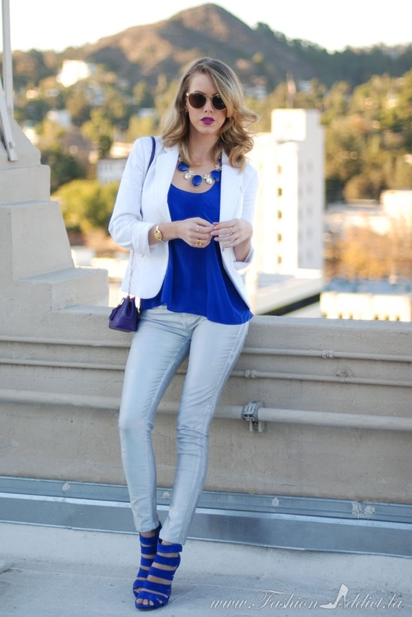 fashion addict jeans tank top jacket bag jewels