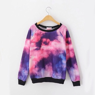 sweater galaxy print swimwear gradient sky ocean cosmic