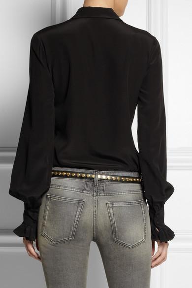 Saint Laurent Monet studded leather belt NET-A-PORTER.COM