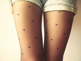 pants tights hearts tights heart pantyhose pantyhose cute girly underwear leggings heart