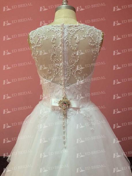 dress wedding dress wedding dress tulle wedding dress crystal beaded dress fashion dress party