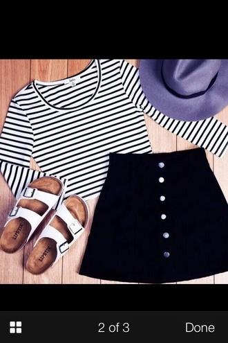 skirt corduroy high waisted skirt black