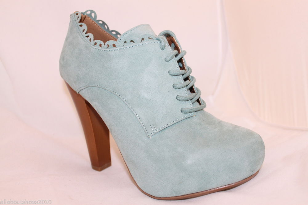 Ankle Booties Pastel Green Mint Sage Suede Like Lace Up Style Boots Womens Shoes | eBay