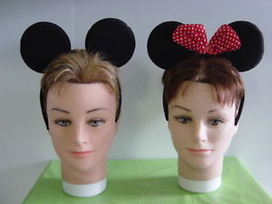 Mickey AND Minie Mouse Ears Headband Fancy Dress | eBay