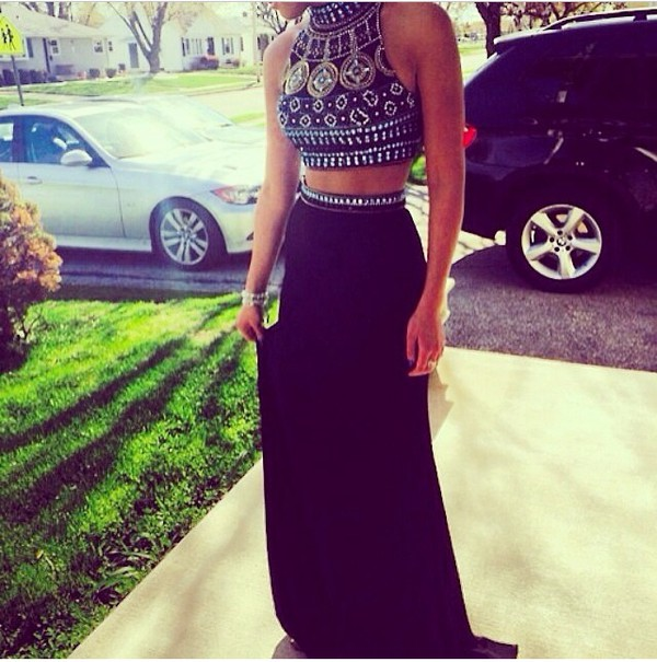 skirt maxi skirt maxi dress dress diamonds black pearl jewels blouse bleu red white dresss crop tops taille haute jupe style prom dress