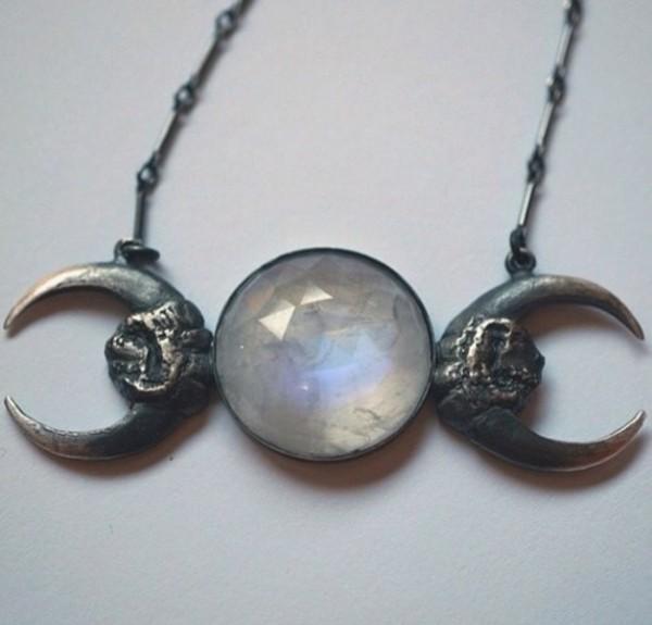 jewels necklace moon jewelry chain beautiful goth goth grunge gem grunge jewelry halloween