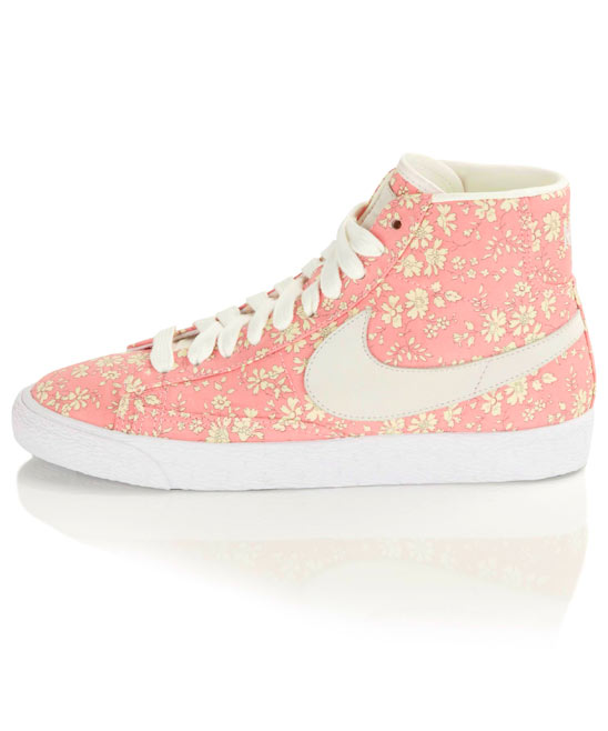 Capel Liberty Print Blazer Mid Rise Trainers, Nike X Liberty. Shop more Liberty print Nike trainers from the Nike X Liberty collection online at Liberty.co.uk