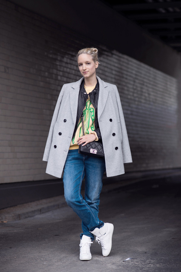 the fashion guitar sweater jeans jacket coat bag