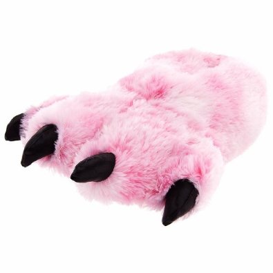Amazon.com: Pink Fuzzy Bear Paw Animal Slippers for Women and Men: Shoes