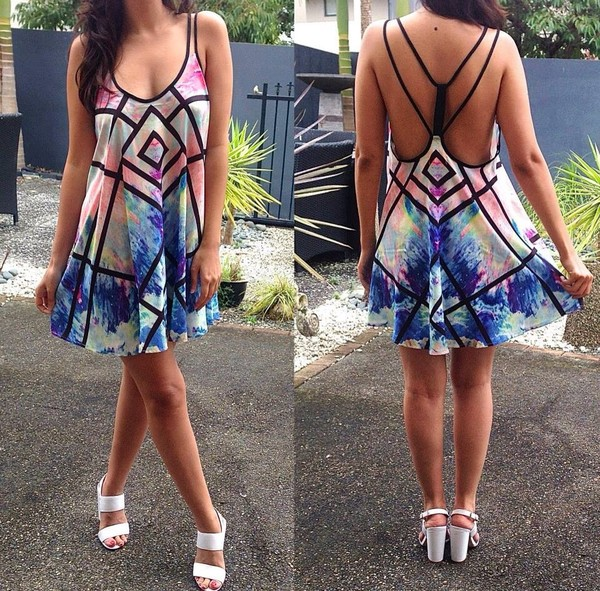 dress shoes watercolour blue dress purple dress geometric white dress