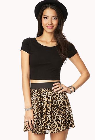 Chiffon Safari Skirt | FOREVER21 - 2000074671