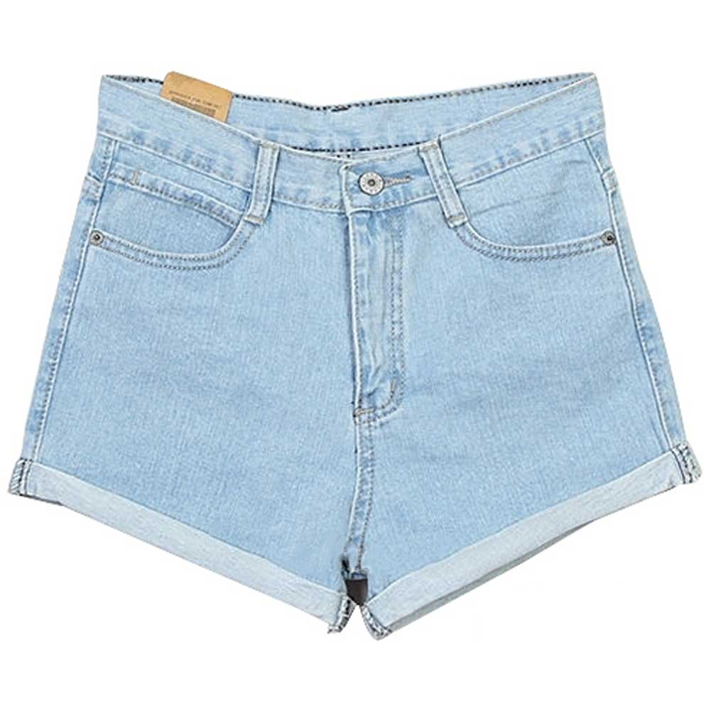 New Women Fashion Lady's Retro High Waist Blue Crimping Jean Shorts Pants s M XL | eBay