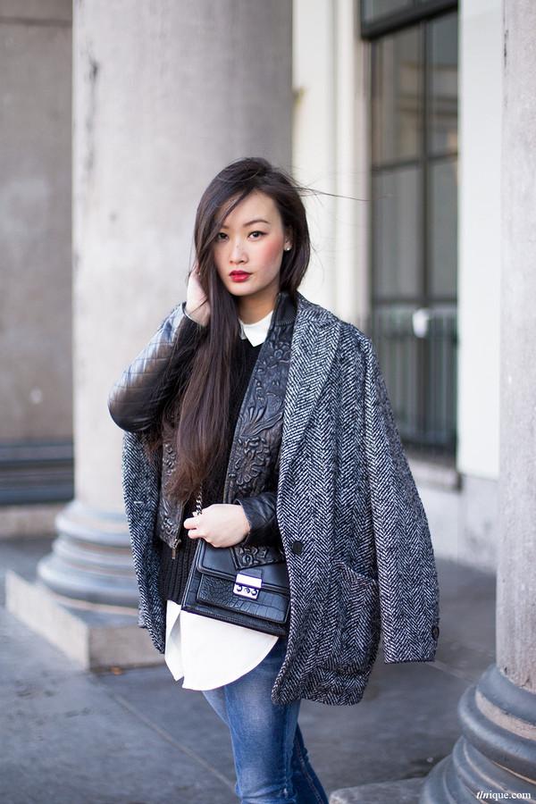 tlnique coat bag jacket shoes make-up