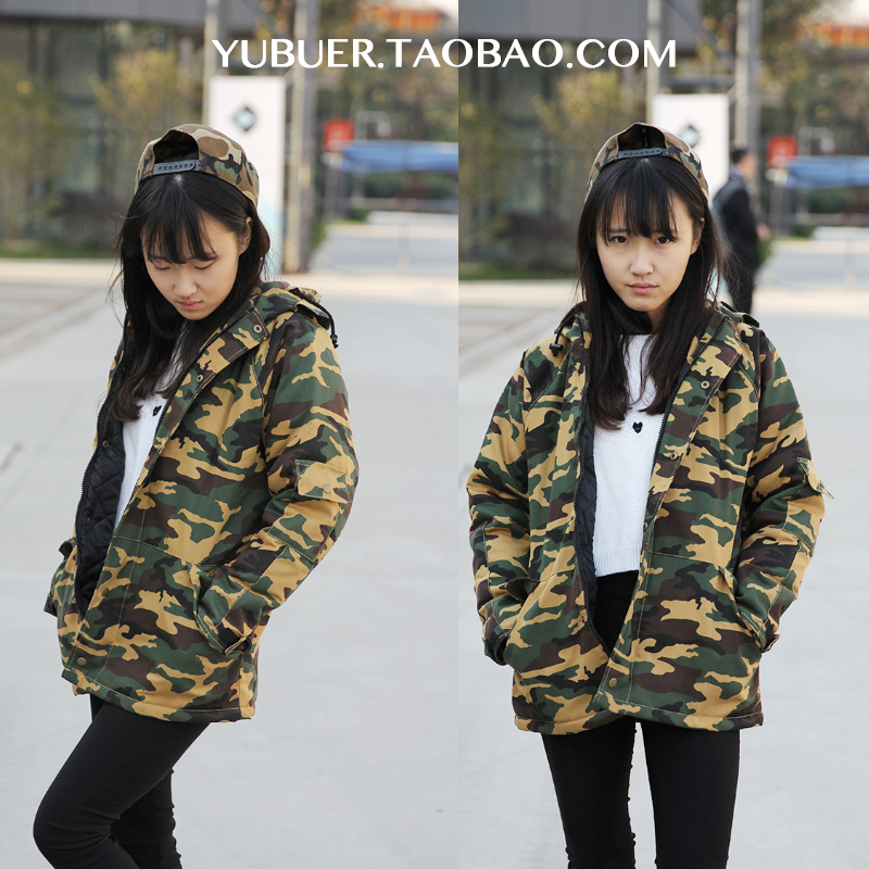 [US$27.83] [Women's Clothes / ladies boutique] 2013 fall Harajuku BF wind Camo jacket girl Korea new lovers in Europe and Korean students surges of soft
