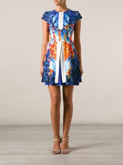 Peter Pilotto Printed Layered Dress - Banner - Farfetch.com